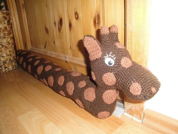 Pdf Zugluftstopper Giraffe Häkeln Anleitung Etsy