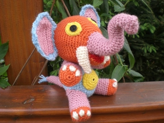 Pdf Amigurumi Anleitung Elefant Häkeln Handarbeit Etsy