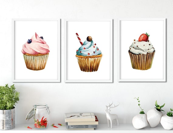picture about Printable Cupcakes known as Watercolor Cupcakes Printable ,Cupcake Print, Cupcake Wall Decor,Kitchen area Artwork, Cupcake poster, cupcake wall artwork, cupcake nursery,