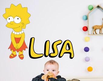 Lisa Simpson Loser Vinyl Car Window Laptop Bumper Sticker Decal
