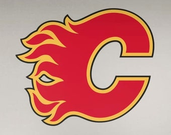 Calgary Flames Vinyl Sticker Decal Laptop Car Cornhole Wall Pick a size