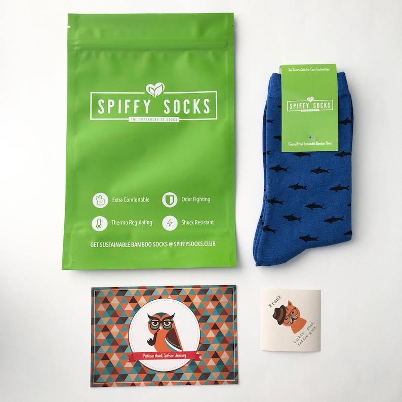 Bamboo Fiber Socks Eco Friendly Spiffy Socks Shark Frenzy