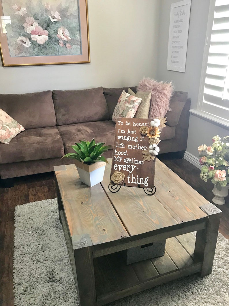 . Wood decor sign decor for home homemade flowers wood stain   farm house  decor