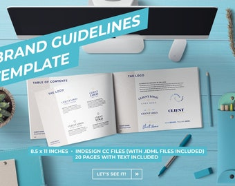 Brand Guidelines Template   Brand Style Guide   Brand Board   Brand Identity Guide   Customizable InDesign
