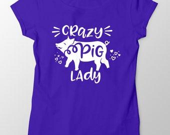 Crazy Pig Lady svg, Pig svg, Show Pig svg, Pig Love svg, Pig Lady svg, Pig Face svg, Pig Shirt, 4H svg, Cuttable File, cricut, silhouette