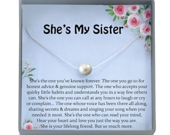 Sister Necklace For Gift Ideas Birthday Sisterhood Big Jewelry