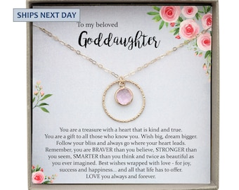 Goddaughter Gifts From Godmother Necklace Baptism Gift Birthday Wedding