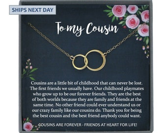 Gift For Cousin Gifts Necklace Christmas Cousins Idea Best Friend Birthday