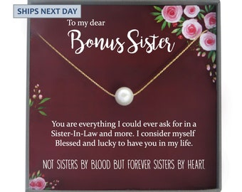 Sister In Law Necklace Christmas Gift For Unbiological