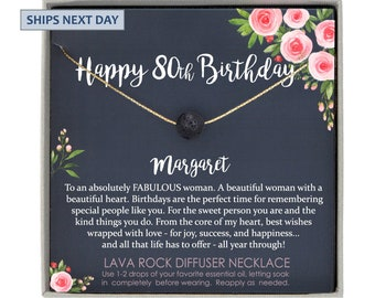 80th Birthday Gift For Women 80 Year Old Necklace Woman