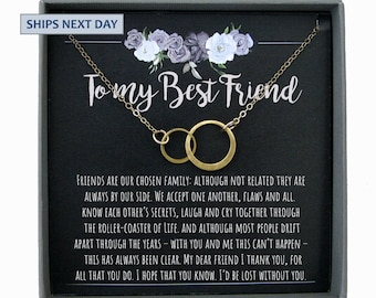 Best Friend Gifts Necklace BFF Birthday Gift