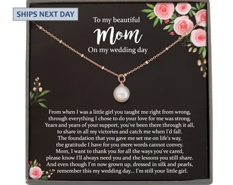 Mother of The Bride Gifts from Daughter Mother of The Bride Necklace Mother in Law Wedding Gifts for Mother of The Bride from Bride Personalized Gifts