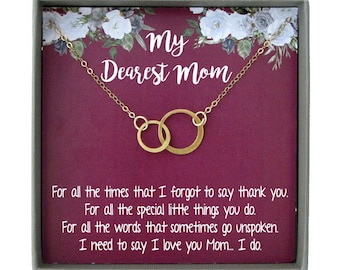 Sentimental Gifts For Mom Birthday Gift Necklace Christmas