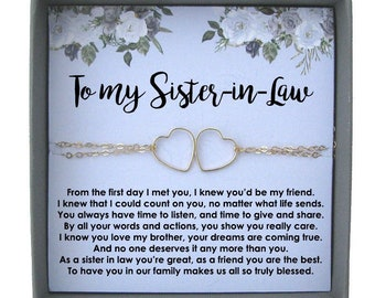sister in law wedding gift sister in law bracelet sister in law christmas gift sister of the groom sister in law gift sister of the bride - What To Get Sister In Law For Christmas