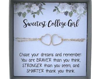 college student gift girl going to college girl gift ideas college jewelry gold filled college graduation gift