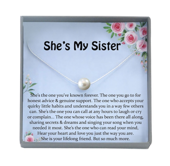 Sister Necklace For Sister Gift Ideas Sister Birthday Gift Sisterhood Gift Big Sister Gift Sister Jewelry