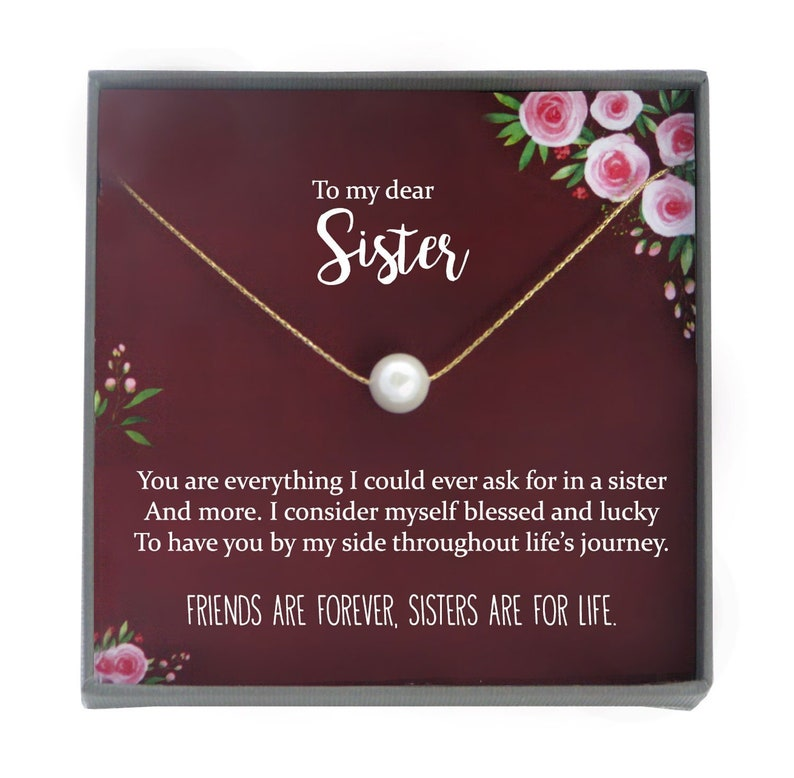 Sister Necklace For Sister Gift Ideas Sister Birthday Gift Etsy