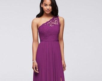 534d5518cf4 long one shoulder lace bridesmaid dress
