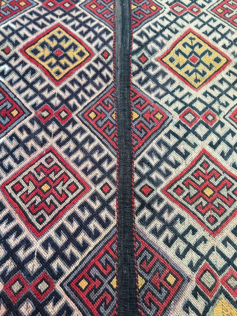 Sumak Kilim Rug Bohemian Kilim Rug Oriental Rug 2\u201969\u2019\u2019x4\u201917\u2019\u2019 ft Free Shiping Turkish Rug Embroidery Rug Oushak Rug Vintage Kilim Rug