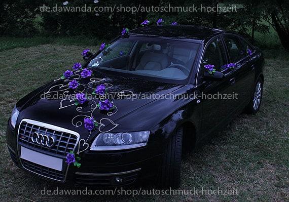 Violett Rosen Autogesteck Autoschmuck Hochzeit Etsy