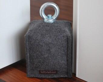Door stopper made of wool felt