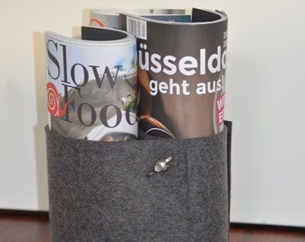 """Newspaper stand """"Little Snake"""" made of wool felt"""