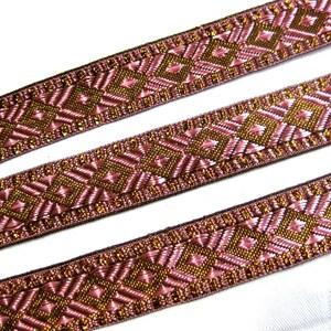 18 Blush PinkBronze Angled Patchwork