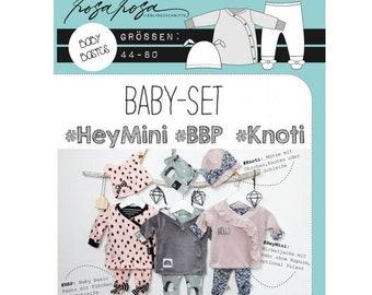 Schnittmuster Baby-Set Hey Mini BBP Knoti rosarosa 44-80