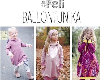 Sewing pattern Feli Balloon Tunika pink pink 80 - 164