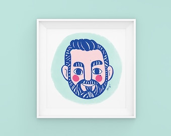 Personalised face Illustration