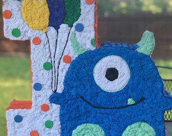 1st Birthday One Pinata Little Monster 1 St Decorations Party Theme