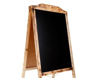 Kundenstopper Kreidetafel Werbetafel Holz Wasserfest 120x65x8cm 20kg