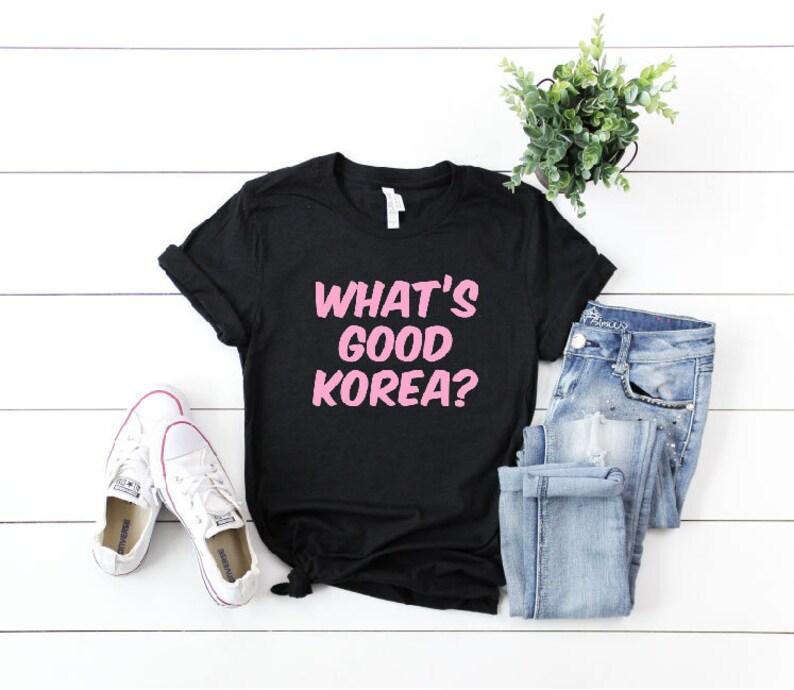 9afbdd801 What's Good Korea Shirt BTS Idol T-Shirt Bangtan Answer | Etsy