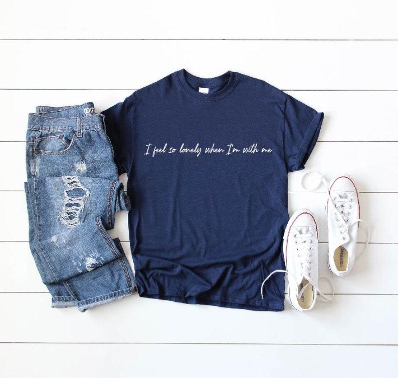 32693f7bd I Feel So Lonely When I'm With Me Shirt, Uhgood T-Shirt, BTS RM Uhgood  Shirt, BTS Kim Namjoon T-shirt, Mono Playlist Shirt, Map of the Soul