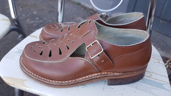 Deadstock Original Girls Leather Shoes