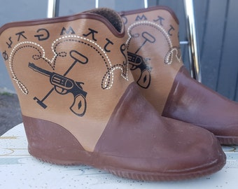 Vintage Western Child Rubber Boots