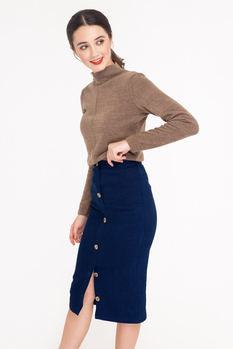 Romantic Beige Turtleneck Soft knit short Sweater Top for every day
