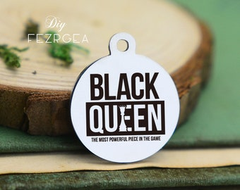 Black girl magic Stainless Steel Charm,Personalized women Empowerment Engraved Charms,Custom charmsPendants,Necklace Bangle Charms