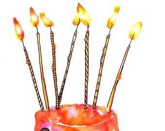 Make a Wish Birthday Cake Card