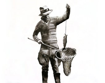 vintage fisherman