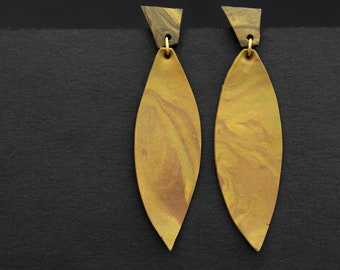 Earrings made of polymer clay, Golden Board