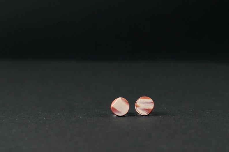 Earrings / plugs / stud earrings / round / small / Red image 0