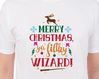 Merry Christmas ya filthy wizard cut files, printable files, svg, dx, eps, png, christmas svg,