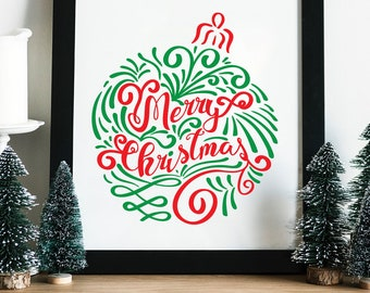 Christmas SVG, Merry Christmas SVG, Digital cut file, Christmas clipart, instant download, Christmas, eps, png, Cut File, svg file, dxf