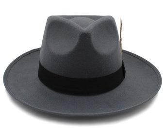 aa85291d6689b Wide Brim Panama fedora Sombrero beige red grey brown black hat