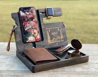 Docking Station for men, Fathers day gift, Gift For Him, Christmas gift, gift for dad