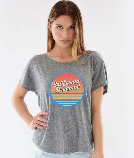 California Dreamin Triblend Tshirt Retro T Shirts Womens | Etsy