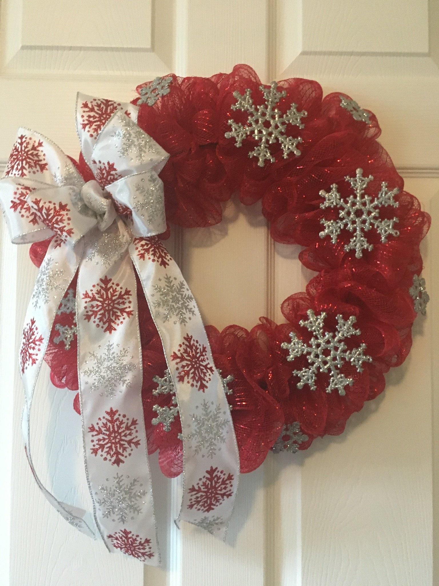 Christmas Wreaths Deco Mesh Christmas Wreath Front Door Christmas