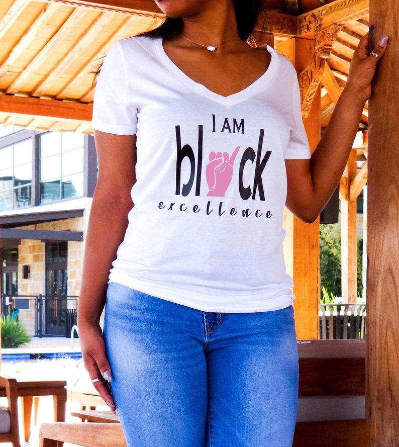 d738035408e09 I Am Black Excellence- Alpha Kappa Alpha Shirt