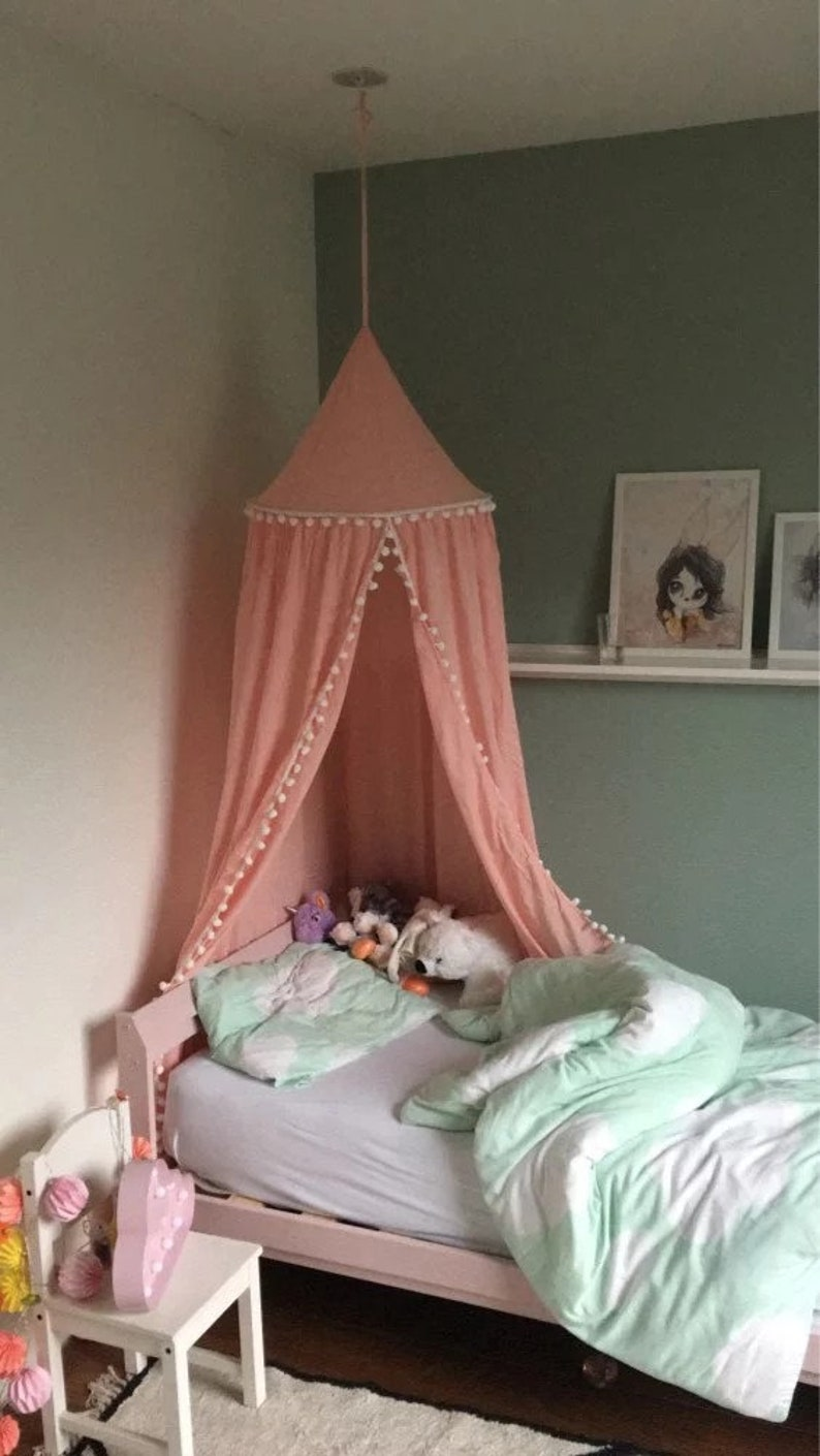 Pink Canopy bed canopy canopy girls room pink canopy   Etsy